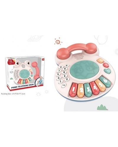 Музыкальная развивающая игрушка 668-180 телефон,в коробке 27*33*7см