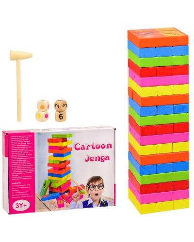 Деревянная игрушка WD2204 Дженга, в коробке - 25*18*5,5 см