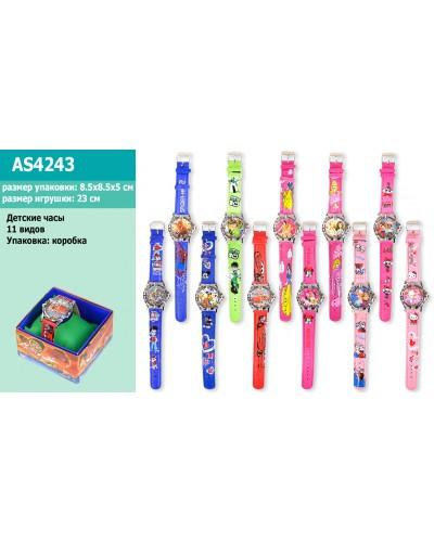 Детские наручные часы AS4243 микс видов, в коробке 8*8*5см
