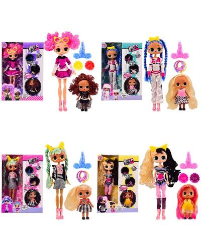 Игровой набор кукла BELA DOLLS GN5014 старшая сестра 27 см + младшая (2 куклы в н-ре), 4 в