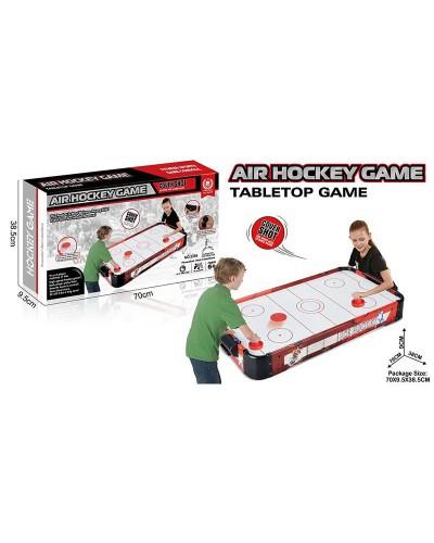 Настольная игра аэрохоккей 2356 в коробке 70х38,5х9,5см