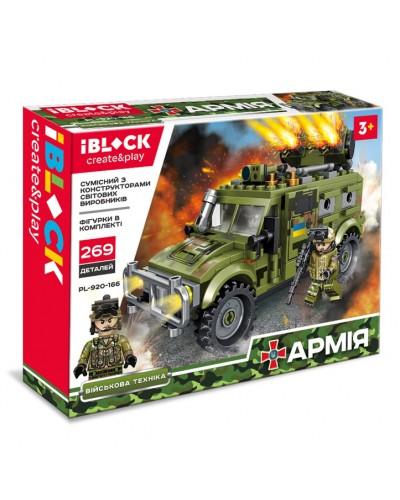 Конструктор IBLOCK PL-920-166 АРМИЯ, 269дет., в собран. кор. 28*6*21 см