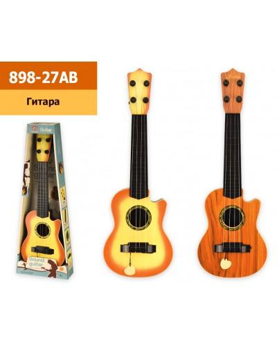 Гитара 898-27AB 2 цвета, р-р игрушки - 14,5*4*42 см, в коробке 17*5,5*47см