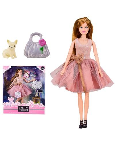 """Кукла  """"Emily"""" QJ087C с аксессуарами, шарнирная, р-р куклы - 29 см, в кор. 28.5*6.5*32.5 см"""