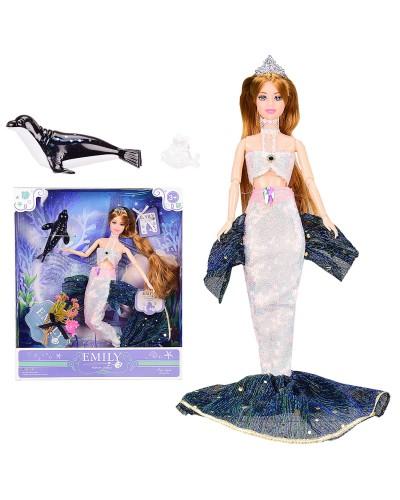 "Кукла  ""Emily"" QJ092 русалка с аксессуарами, шарнирная,р-р куклы - 29 см, в кор. 28.5*6.5*3"