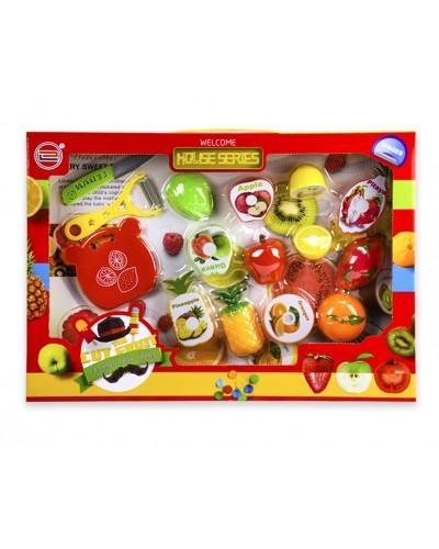 Набор продуктов 6609E на липучке, фрукты, овощи,в кор. 45*5,5*32см