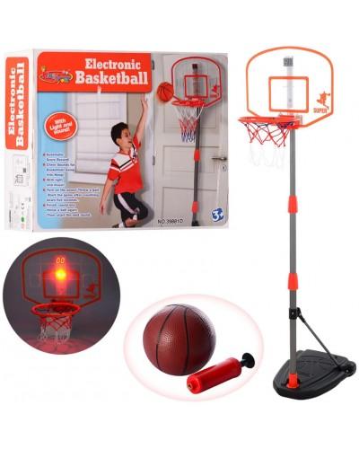 Баскетбольный набор BB111 стойка, табло со светом, мяч с насосом в комплекте, в кор. 49*38*12 см