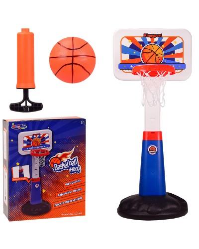 Баскетбольный набор BB113 стойка регулируется по высоте (до 125 см),в кор. 40*18*52 см, р-р иг