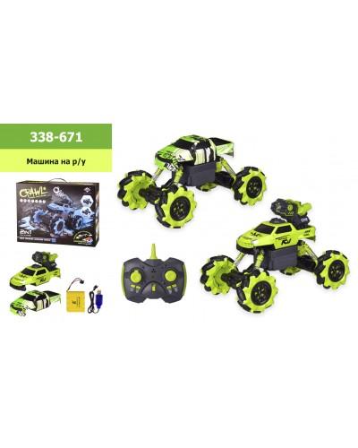 Машина аккум р/у 338-671 в кор. 41.5*12,5*31,5 см, р-р игрушки – 30*18*21 см