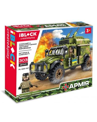 Конструктор IBLOCK PL-920-167 АРМИЯ, 303 дет., в собран.кор 32,5*6*26см