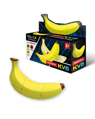 Кубик логика iblock PL-920-50 Банан, в коробке 16,5*4,5*4,5см