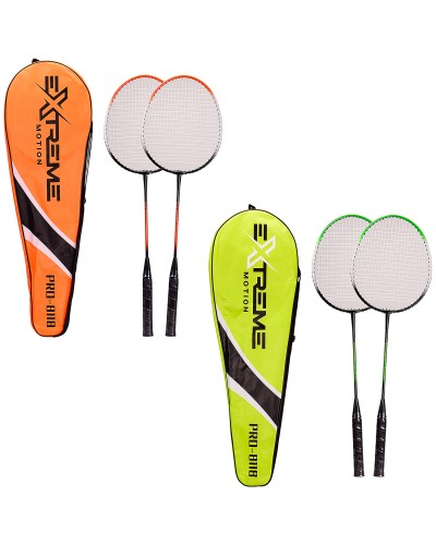 Бадминтон M05640 2 цвета, 2 ракетки в сумке 22*69см, длина ракетки -65,5 см