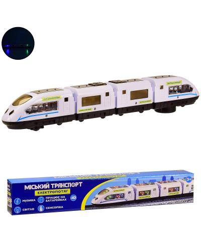 Вагон метро K1112 батар.,свет,звук,в коробке  42*5.3*7 см, р-р игрушки – 42*4.5*6 см