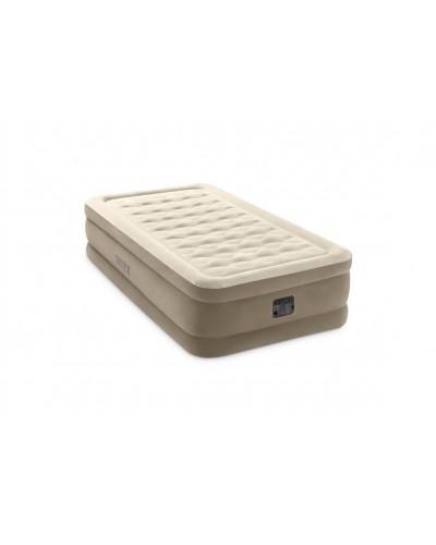 Кровать велюр 64426(2шт) со встроенным насосом (220-240В) 99*191*46 см в кор