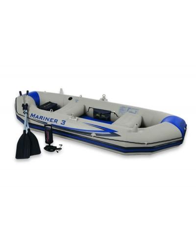 Лодка 68373 Mariner трехместная с насосом и веслами 297*127*46 см