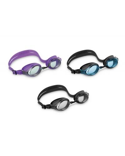 """Очки 55691 """"Профи"""" гипоал, силикон, защищают от УФ-лучей, 3 цвета, 54 см"""