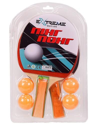 Теннис настольный TT2111 2 ракетки,4 мячика в слюде(толщина 7 мм) р-р упаковки – 19.5*29.5 см