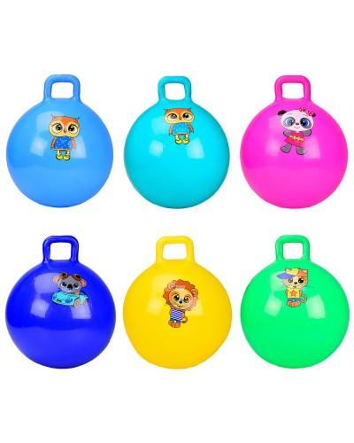 Мяч для фитнеса CB6502 гири  65 см 500 грамм, 6 цветов