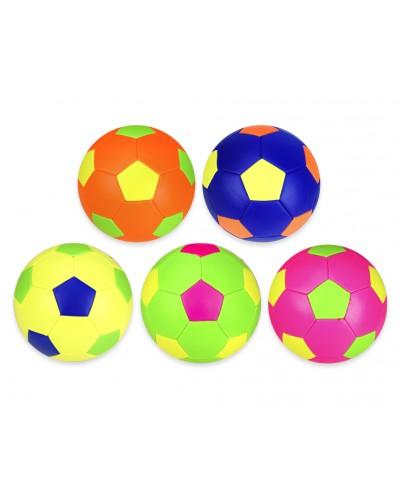 Мяч футбол FB190802 №5, PVC, 280 грамм, MIX 5 цветов