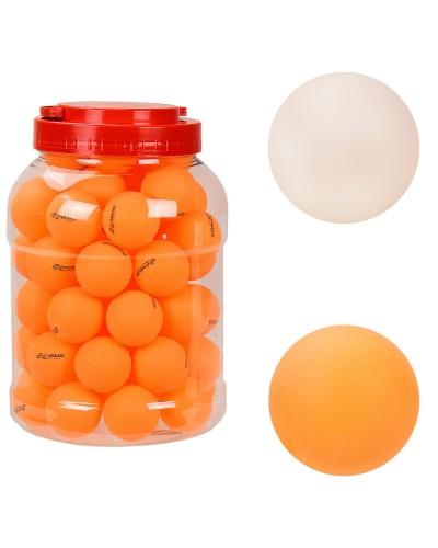 Теннисные мячики TT2131 ABS, в банке 60шт, 2 цвета-по одному цвету в банке – 16*16*23.5 см