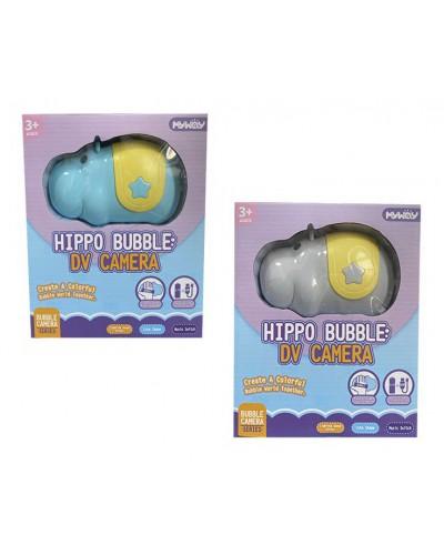 Мыльные пузыри 056-1 Бегемот 2 цвета в кор 23*18*8 см