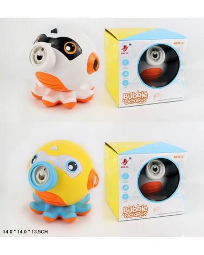 Мыльные пузыри 99073 Осьминог, 2 цвета 14*14*14 см в коробке