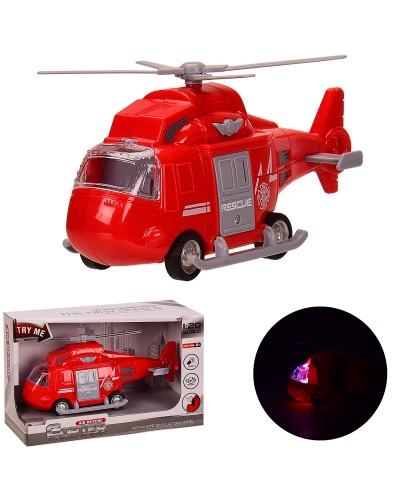 Вертолет батар. 661-02D инерц., свет, звук, в кор. 22*9.5*14 см, р-р игрушки – 20*7.5*9 см