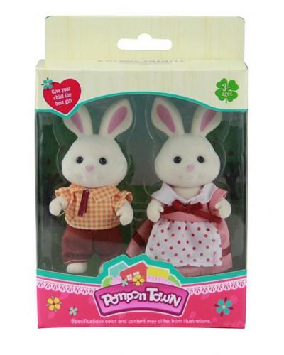 Животные флоксовые 16218/81218/21218-3 3 вида микс Кролики, Мышки, Мишки, в короб.11,8*5,7*