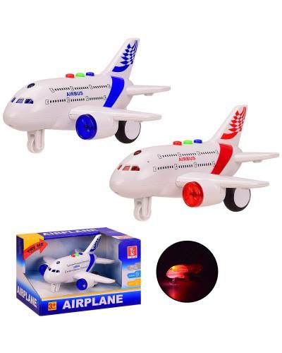 Самолет RJ023 инерц, 2 цвета, батар., свет, звук, в откр. кор. 20*15*13 см, р-р игрушки – 17*16*9 см
