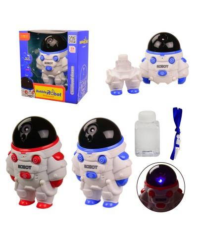 Мыльные пузыри 1103A на батар. звук, свет, Астронавт с наолнителем в коробке – 19*12*21 см