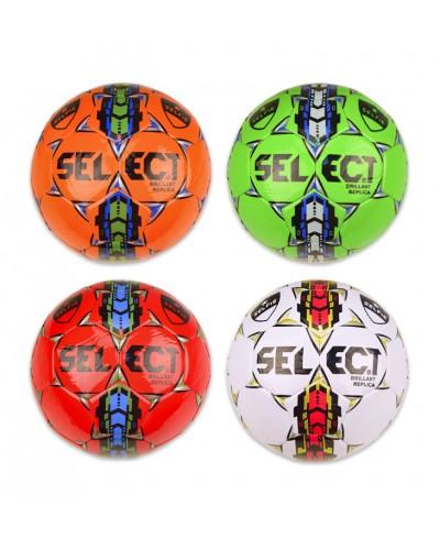 Мяч футбол E31224 №3, PVC, 160 грамм, 4 цвета