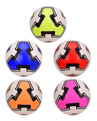 Мяч футбол FB2041 размер 5, 420 грамм, 5 цветов микс
