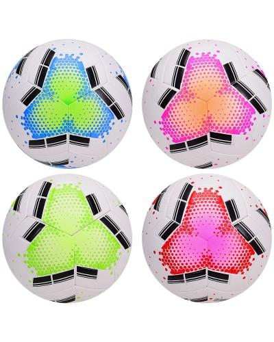 Мяч футбол FB2043 размер 5, 420 грамм, 4 цвета микс