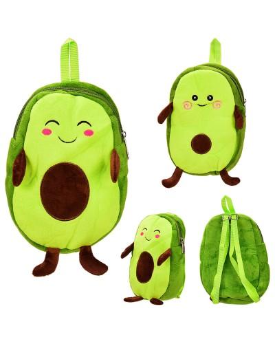 Детский плюшевый рюкзак авокадо AV1646 2 вида, р-р рюкзака – 15*6*22 см, в пакете
