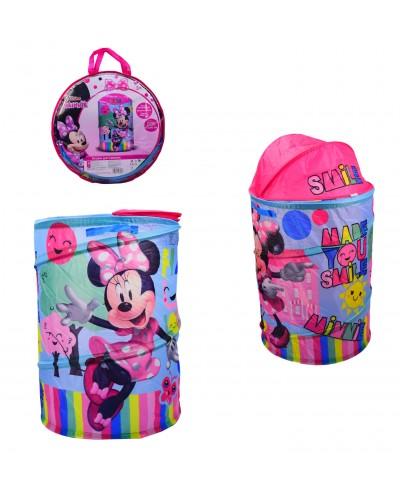 Корзина для игрушек D-3510 Minnie Mouse в сумке – 49*49*3 см, р-р игрушки – 43*43*60 см