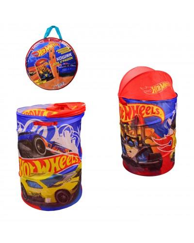 Корзина для игрушек D-3516 Hot Wheels, в сумке – 49*49*3 см, р-р игрушки – 43*43*60 см