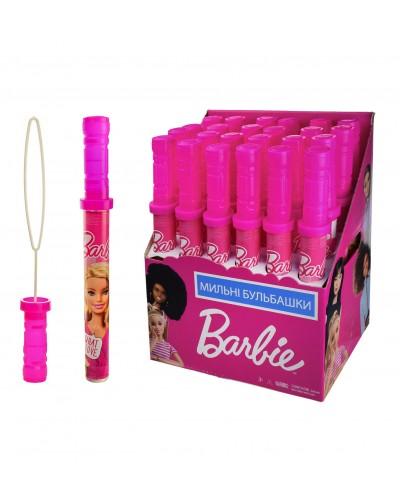 Мыльные пузыри KC-0066 Barbie 160 мл. 24 шт в блоке, 4 блока в ящике, цена за 1 шт