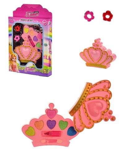 Косметика 135-61D тени, помада, заколки, в кор.– 15.5*3*24 см, р-р игрушки – 12*2.5*9 см