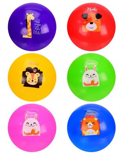 Мяч резиновый CY21005 в сетке по 3 мяча, 10 см,6 цветов (цена за 3 шт)