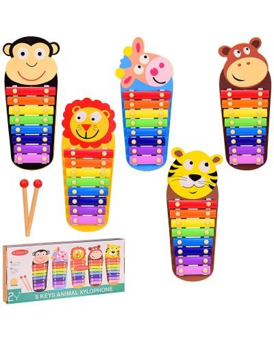 Деревянная игрушка VV202 ксилофон микс видов, в коробке 35*4*15.5 см, р-р игрушки – 33*14*3 см