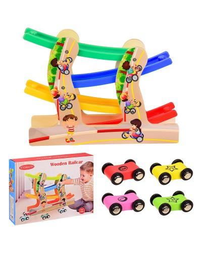 Деревянная игрушка VV212 трек в коробке 31.5*8*23.8 см, р-р игрушки – 30*7*23 см