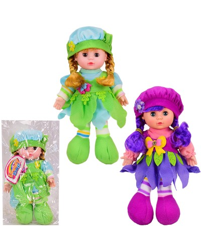Кукла муз LY3015/6 2 вида, поёт песню на англ.языке, мягконабивная, кукла-29см, в пакете 21*35