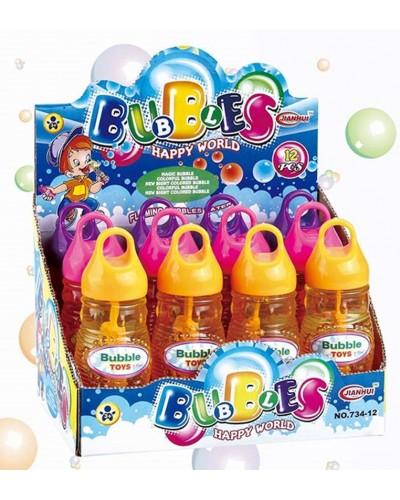 Мыльные пузыри 88987 (12шт/2) 3 цвета,  в боксе