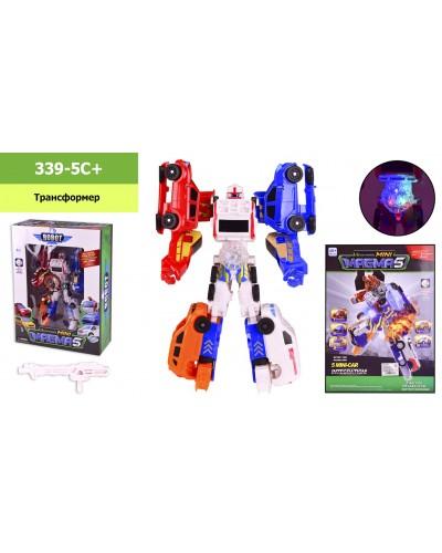 Трансформер  339-5C mini MAGMA 5, свет, в кор. 26*10,5*35,5 см, р-р игрушки – 15*8.5*25 см