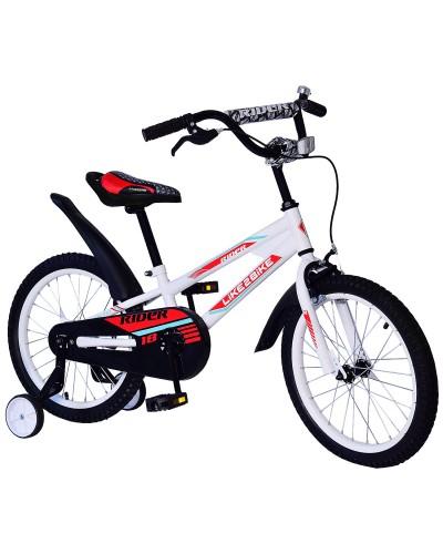 Велосипед детский 2-х колес.14'' 211404 Like2bike Rider, белый, рама сталь, со звонком, руч.тормоз