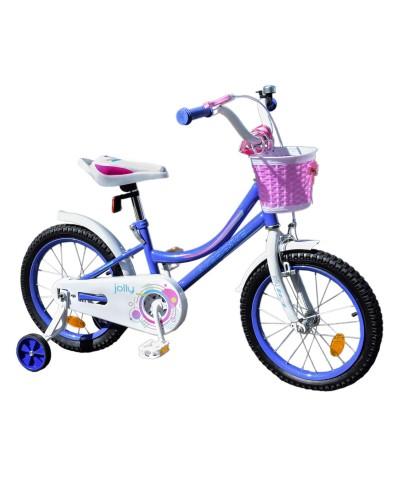 Велосипед детский 2-х колес.14'' 211409 Like2bike Jolly, сиреневый, рама сталь, со звонком, руч.торм