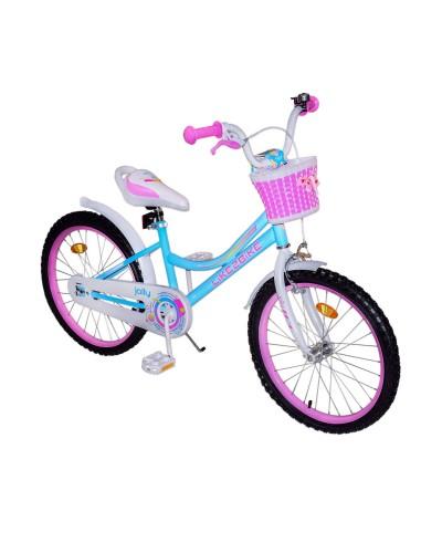 Велосипед детский 2-х колес.20'' 212012 Like2bike Jolly, голубой, рама сталь, со звонком, руч.тормоз