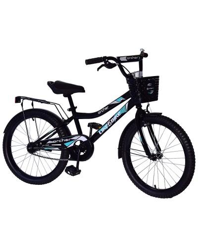 Велосипед детский 2-х колес.20'' 212015 Like2bike Archer, черный, рама сталь, со звонком, руч.