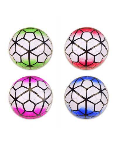 Мяч футбол E31223 №3, PVC, 160 грамм, 4 цвета