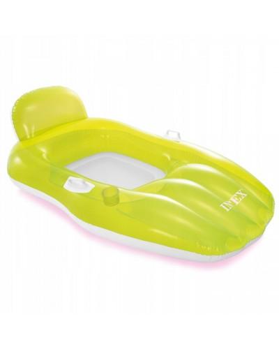 Надувной шезлонг 56805 Chill'n Float с ручками, подстаканником 163*104 см